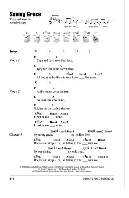 Download Saving Grace Sheet Music By Michelle Fragar Sheet Music Plus