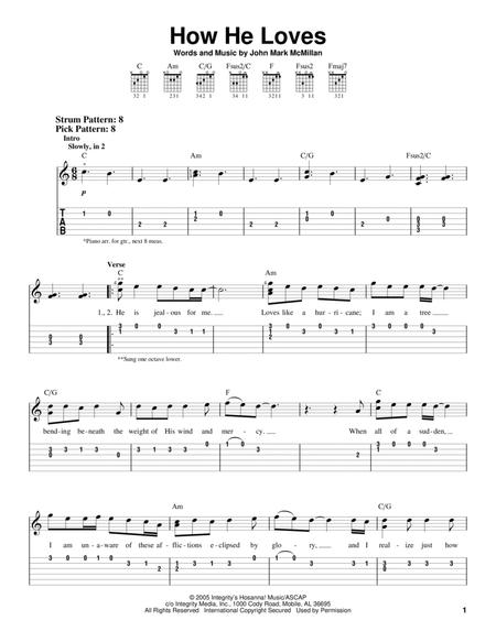 Download How He Loves Sheet Music By David Crowder Band - Sheet ...