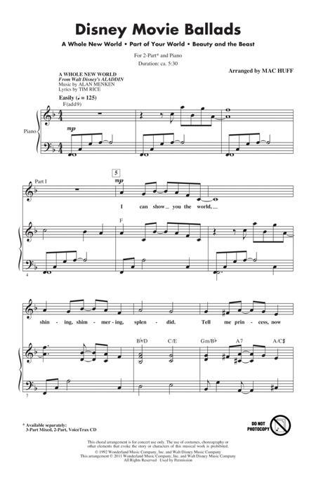Disney Movie Ballads (Medley) (arr. Mac Huff)