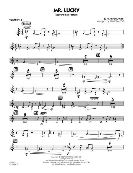 Mr. Lucky (Soprano Sax Feature) - Trumpet 4