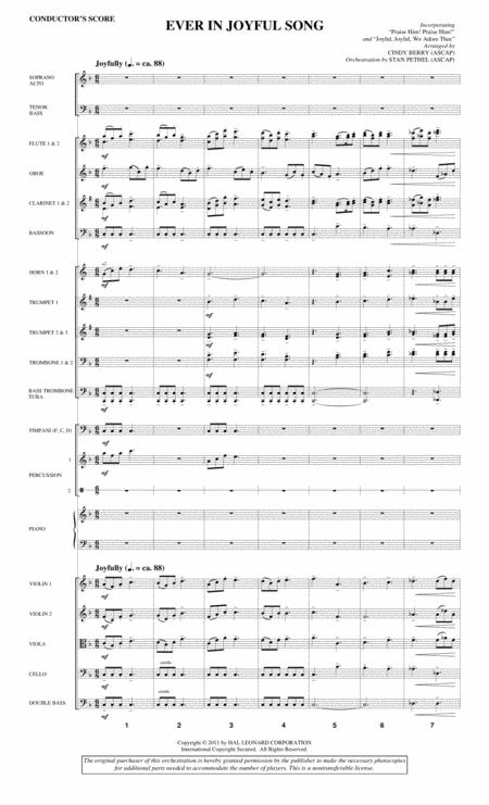 Ever In Joyful Song - Score