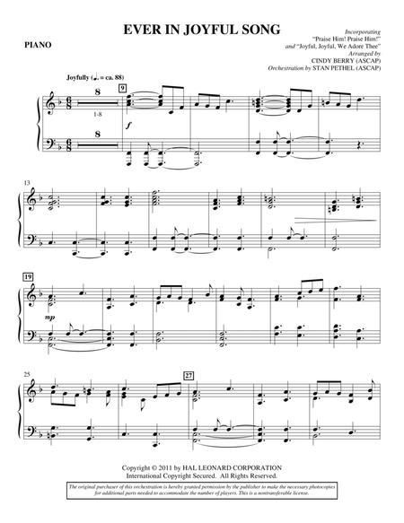 Ever In Joyful Song - Piano