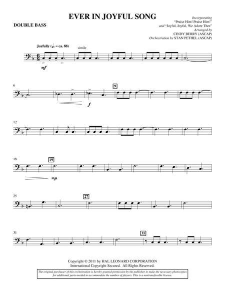 Ever In Joyful Song - Double Bass