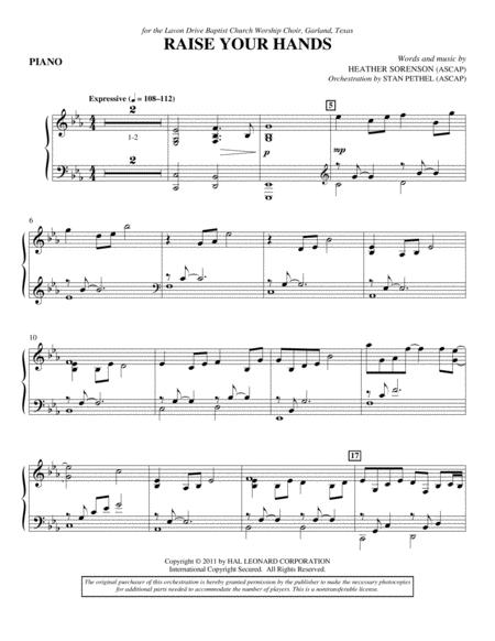 Raise Your Hands - Piano