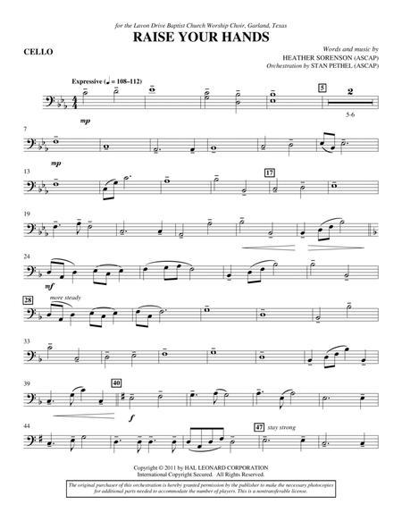 Raise Your Hands - Cello