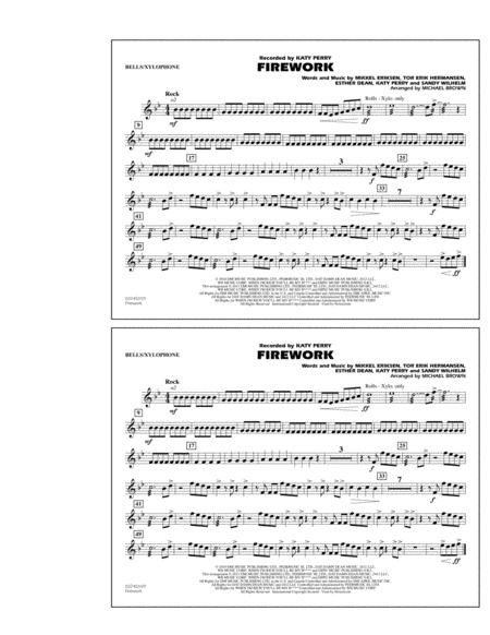 Download Firework - Bells/Xylophone Sheet Music By Katy Perry ...
