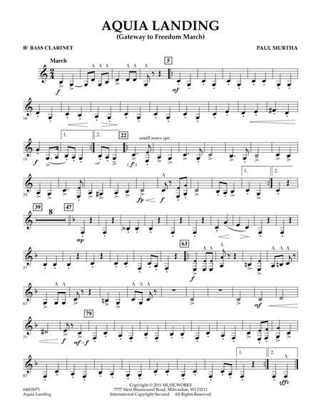 Aquia Landing (Gateway To Freedom March) - Bb Bass Clarinet