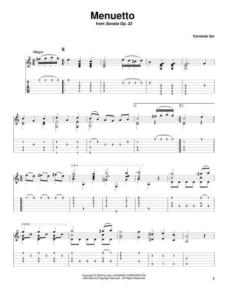Menuetto (from Sonata Op. 22)