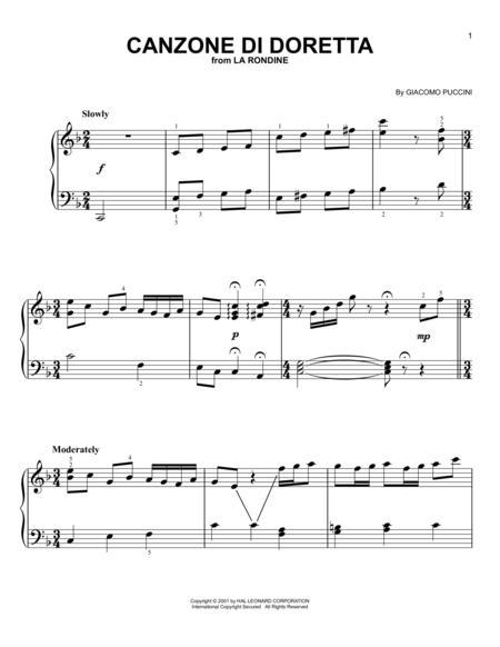Canzone di Doretta