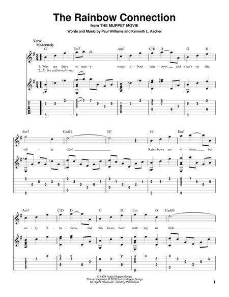 Rainbow Connection Sheet Music Keninamas