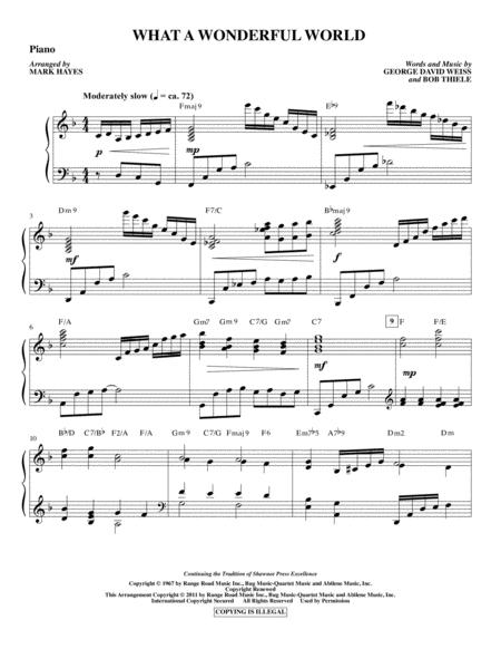 What A Wonderful World - Piano