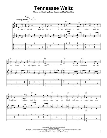 Download Tennessee Waltz Sheet Music By Patti Page Sheet Music Plus
