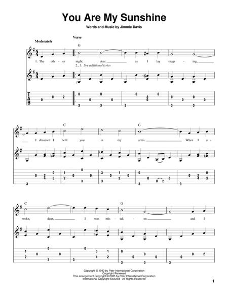 Download You Are My Sunshine Sheet Music By Jimmie Davis, Ray ...