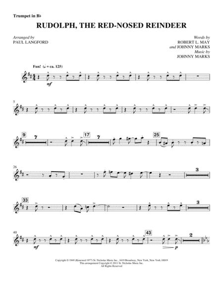 Download Rudolph, The Red-Nosed Reindeer - Bb Trumpet 1 Sheet Music ...