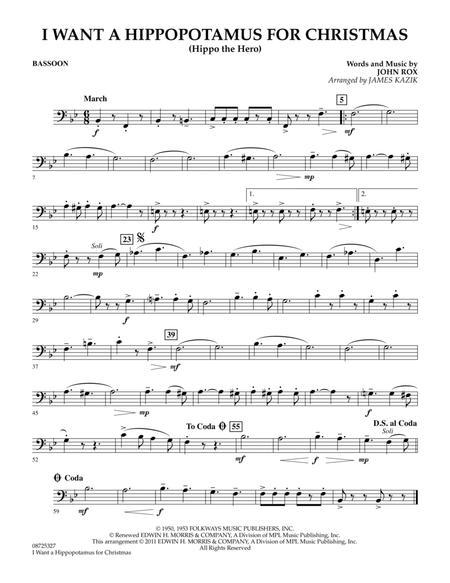 I Want A Hippopotamus For Christmas - Bassoon