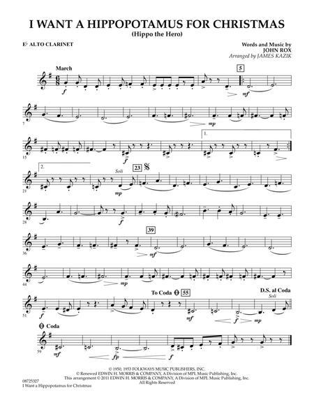 Download I Want A Hippopotamus For Christmas - Eb Alto Clarinet Sheet Music By John Rox - Sheet ...