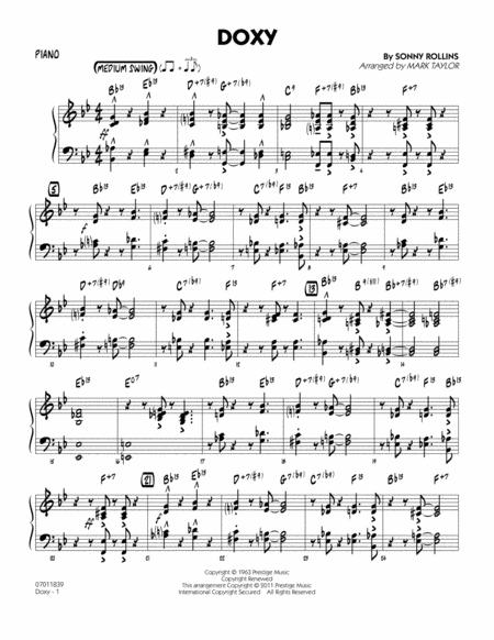 Doxy - Piano