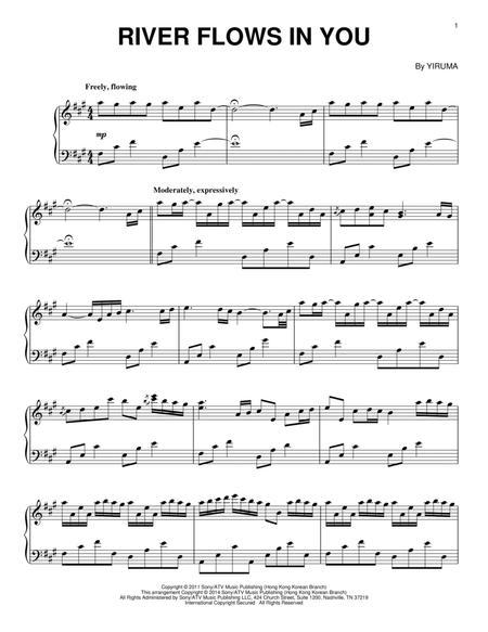 Download River Flows In You Sheet Music By Yiruma Sheet Music Plus