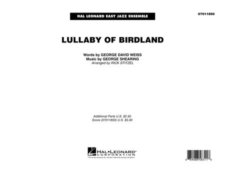 Lullaby Of Birdland - Conductor Score (Full Score)