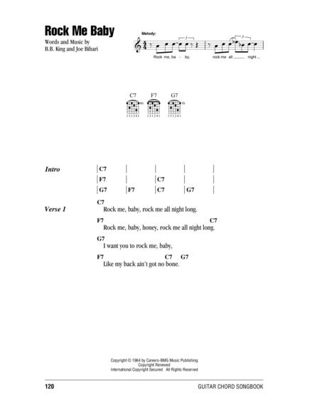 Download Rock Me Baby Sheet Music By B.B. King - Sheet Music Plus