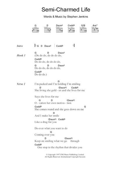 Download Semi-Charmed Life Sheet Music By Third Eye Blind - Sheet ...