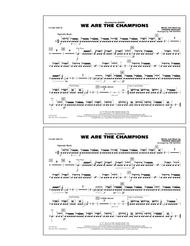 Download We Are The Champions - Snare Drum Sheet Music By