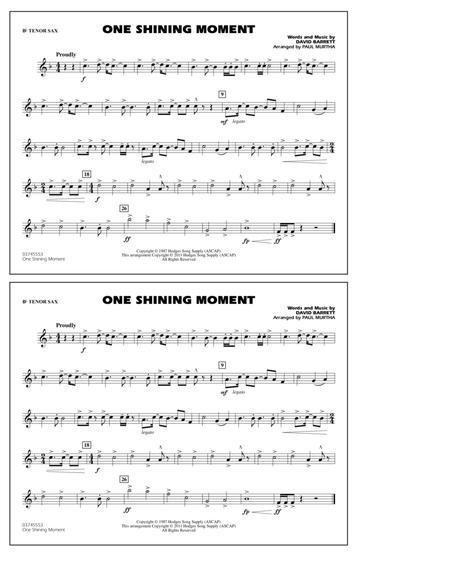 One Shining Moment - Bb Tenor Sax
