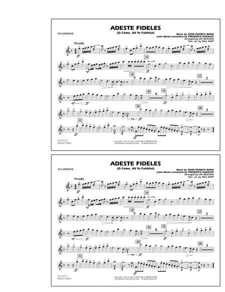 Download Adeste Fideles (O Come, All Ye Faithful) - Xylophone Sheet ...