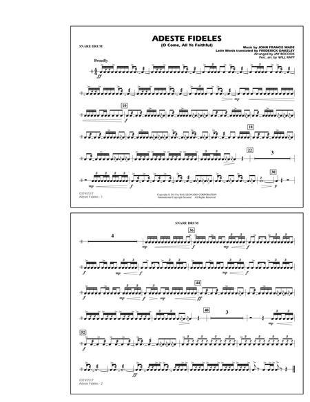 Adeste Fideles (O Come, All Ye Faithful) - Snare Drum
