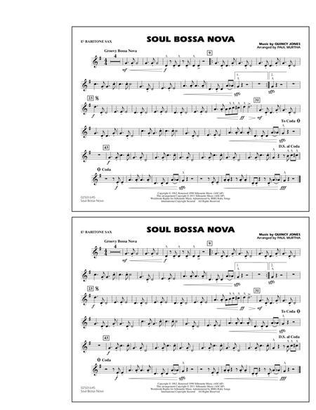 Soul Bossa Nova - Eb Baritone Sax