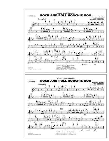 Rock And Roll Hoochie Koo - Flute/Piccolo