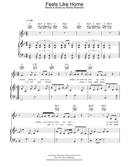 Feels Like Home By Chantal Kreviazuk Randy Newman Digital Sheet Music For Piano Vocal Guitar Piano Accompaniment Download Print Hx 174552 Sheet Music Plus