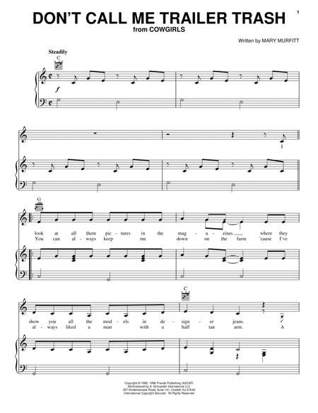 Download Dont Call Me Trailer Trash Sheet Music By Mary Murfitt