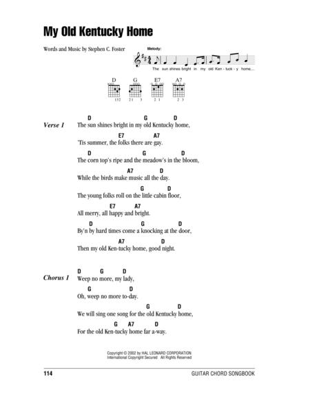 Download My Old Kentucky Home Sheet Music By Stephen Foster - Sheet ...