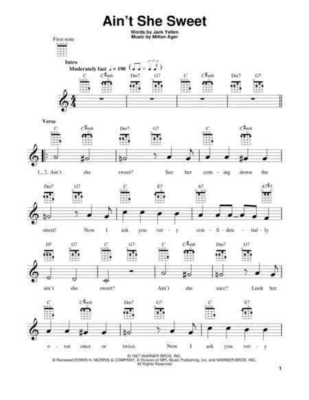 Download Aint She Sweet Sheet Music By Jack Yellen Sheet Music Plus