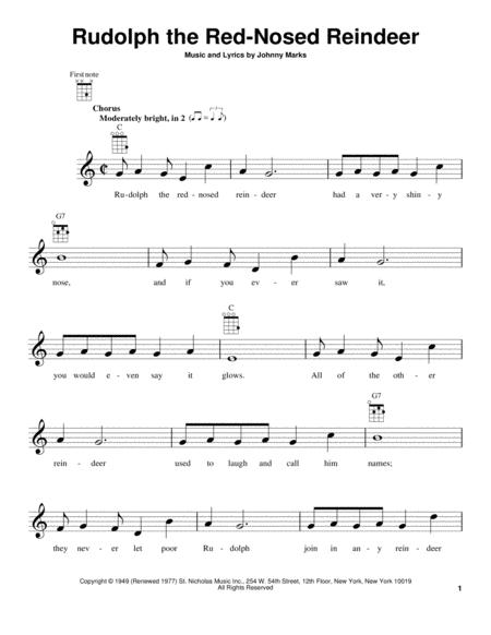 Download Rudolph The Red-Nosed Reindeer Sheet Music By Johnny Marks ...
