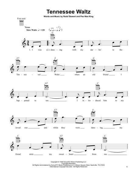 Download Tennessee Waltz Sheet Music By Pee Wee King Sheet Music Plus