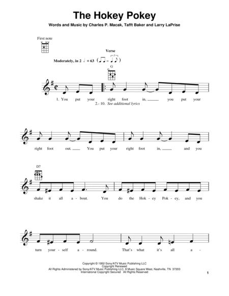 Download The Hokey Pokey Sheet Music By Richard Thompson