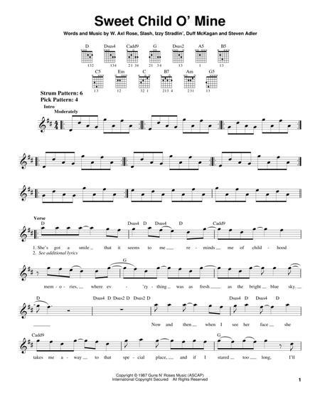 Download Sweet Child O Mine Sheet Music By Guns N Roses Sheet