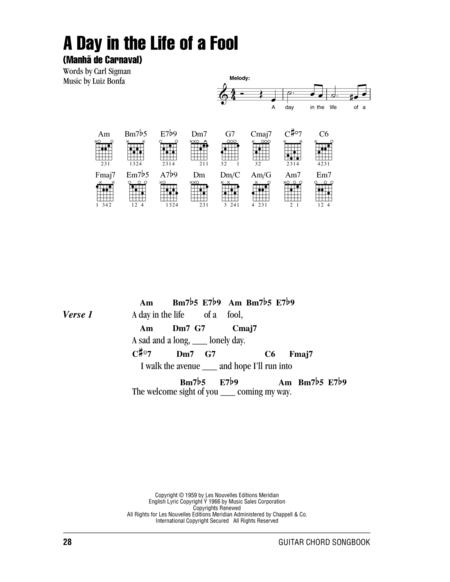 Download A Day In The Life Of A Fool (Manha De Carnaval) Sheet Music ...