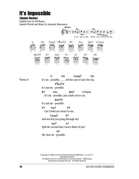 Download It\'s Impossible (Somos Novios) Sheet Music By Perry Como ...