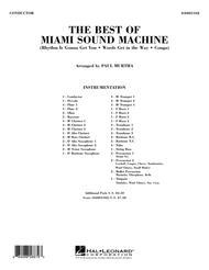 The Best Of Miami Sound Machine - Full Score