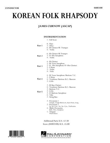 Korean Folk Rhapsody - Full Score