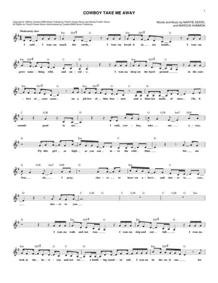 Download Cowboy Take Me Away Sheet Music By Dixie Chicks - Sheet ...