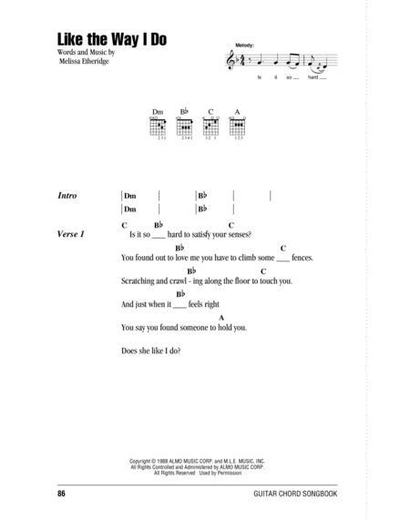 Download Like The Way I Do Sheet Music By Melissa Etheridge - Sheet ...