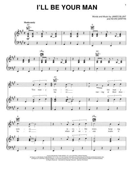 Download Ill Be Your Man Sheet Music By James Blunt Sheet Music Plus