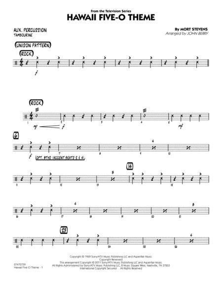 Hawaii Five-O Theme - Aux Percussion