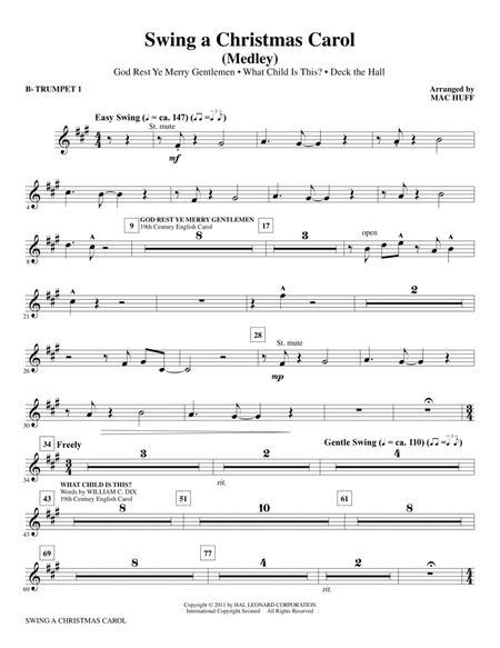 Swing A Christmas Carol (Medley) - Bb Trumpet 1