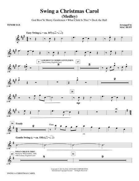 Swing A Christmas Carol (Medley) - Tenor Sax