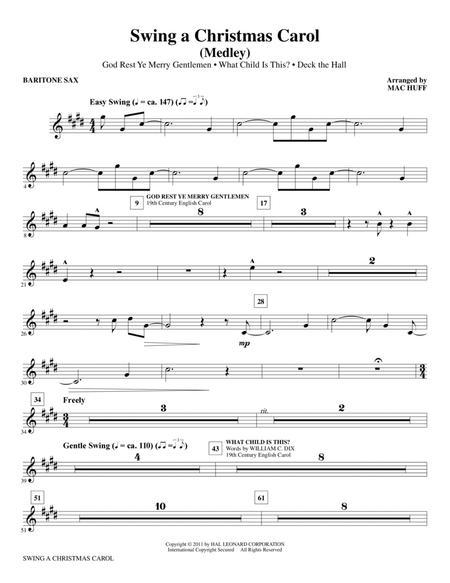 Swing A Christmas Carol (Medley) - Baritone Saxophone